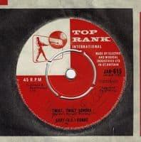 GARY U.S. BONDS Twist, Twist Senora Vinyl Record 7 Inch Top Rank 1962 Signed